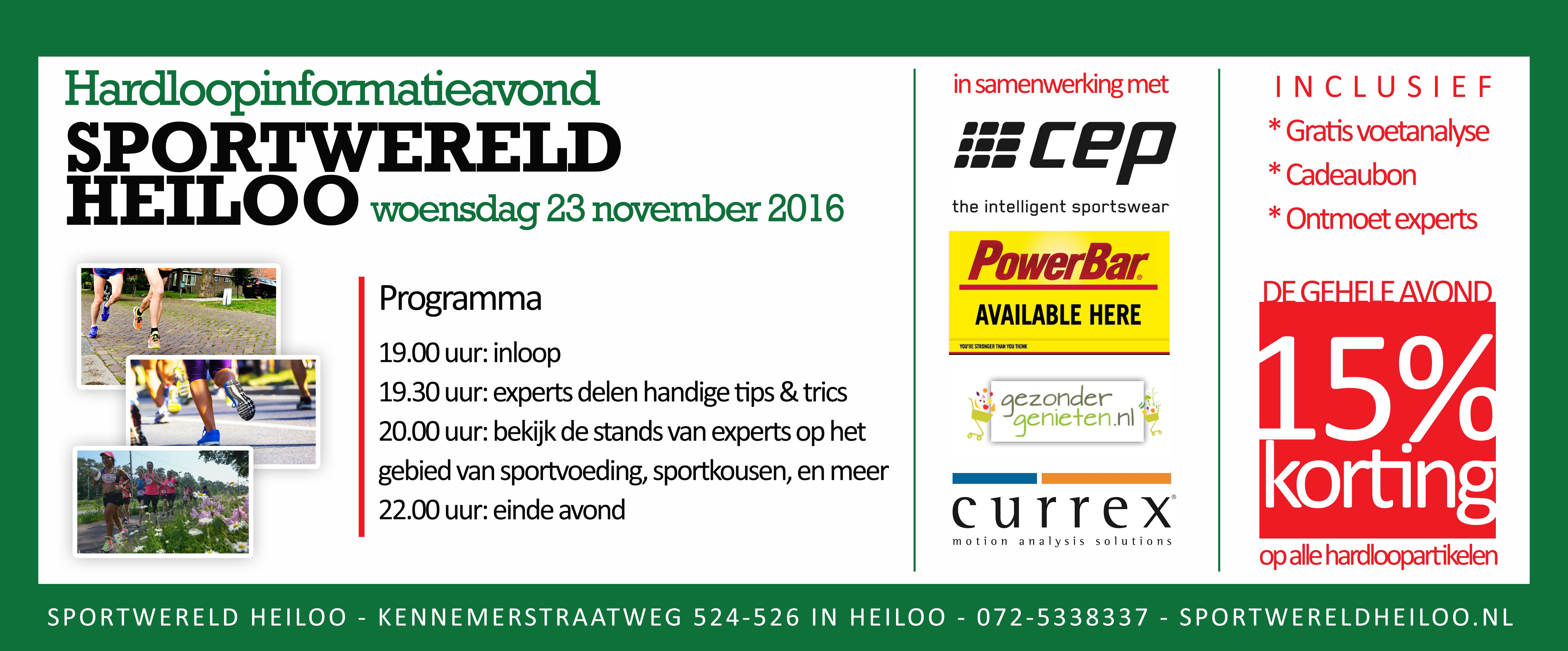 Gratis informatieavond running op 23 november 2016